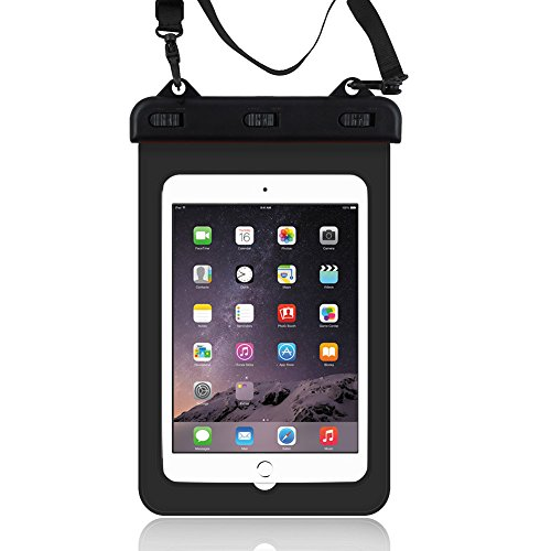 """Mocolo Universal Waterproof Case Carrying Bag Case Pouch for Tablet Water Proof Dustproof Snowproof Cases for iPad Mini Galaxy Tab S Amazon Fire HD 7"""" 8"""" up to 10"""" iPad Pro 10.5 inch Echo Show"""