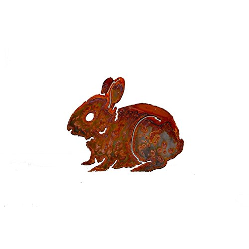 UPC 811301020471, Elegant Garden Design Baby Bunny, Steel Silhouette with Rusty Patina