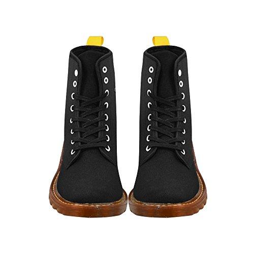 D-story Zapatos Doberman Dog Lace Up Martin Botas Para Hombres