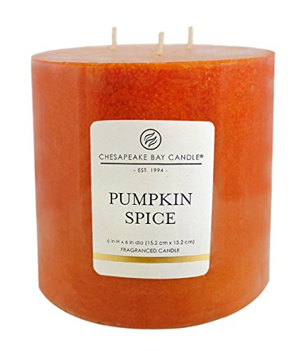 "3-Wick Pillar Candle - Pumpkin Spice 6""x6"" -  - living-room-decor, living-room, candles - 41OnyK%2BEJtL -"