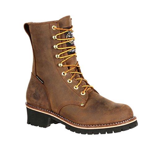"Georgia Boot Men's 8"" Steel Toe Insulated Logger Work Boot-GB00065 (M8.5)"