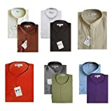 TDC Collection Men's Cotton Blend Banded Collar Dress Shirt