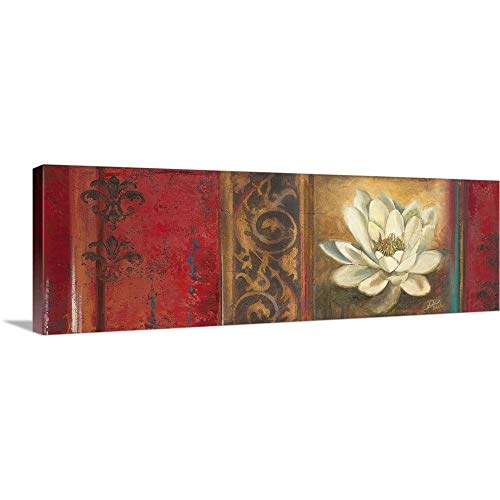 Red Eclecticism with Water Lily Canvas Wall Art Print, 60