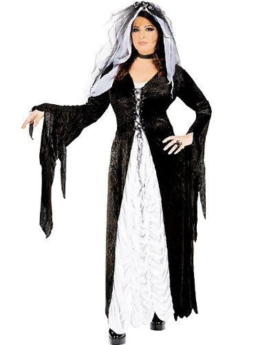 Couples Costumes For Sale (Bride of Darkness Costume - Plus Size 1X/2X - Dress Size 16-22)