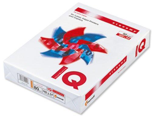 IQ IQECOA4 Carta economica per stampa e copia monocromatica, 80 gmq, A4 [5 risme da 500 fogli] Robert Horne 858146