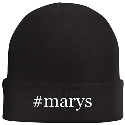 Tracy Gifts #Marys - Hashtag Beanie Skull Cap with Fleece Liner, Black, One Size