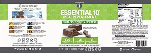 Designer Protein Essential 10 Meal Plant Based Supplement