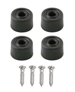 4 unidades de goma soporte de suelo para puerta 32 mm + tornillos