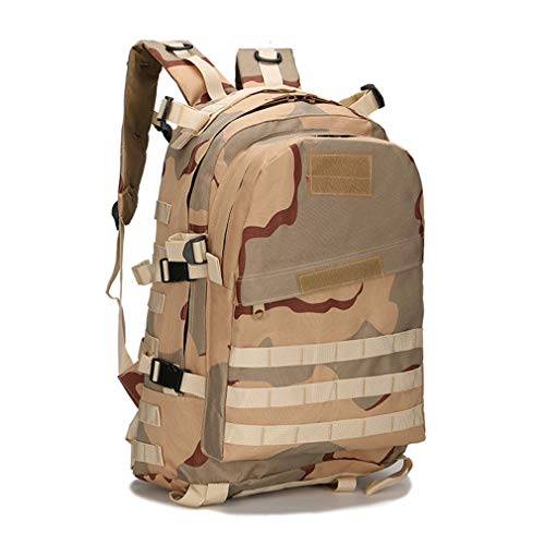 40L camouflage Waterproof Camouflage Backpack Men's 3P sand School Bag qZp7Rq