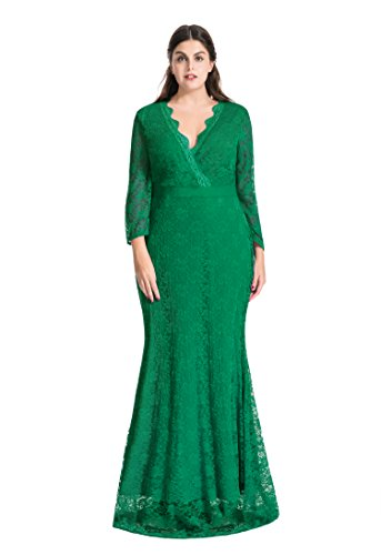 black and green lace dress - 7