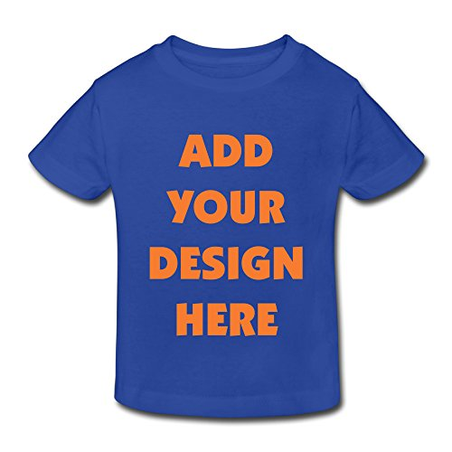 Unisex-Child Custom Personalized T-Shirt, Front Text Toddler Gift for Kids (RoyalBlue - 5-6 Toddler)
