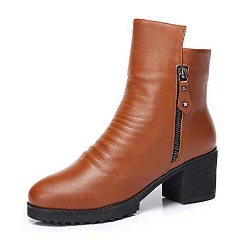 Kamel Kvinnor Hög Klack Boots Färg Brun Storlek 39 M Eu