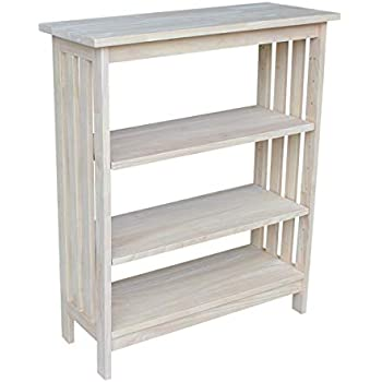 Wooden Kids Scandi Book Shelf in Grey and White Pine Feet Playroom Bedroom