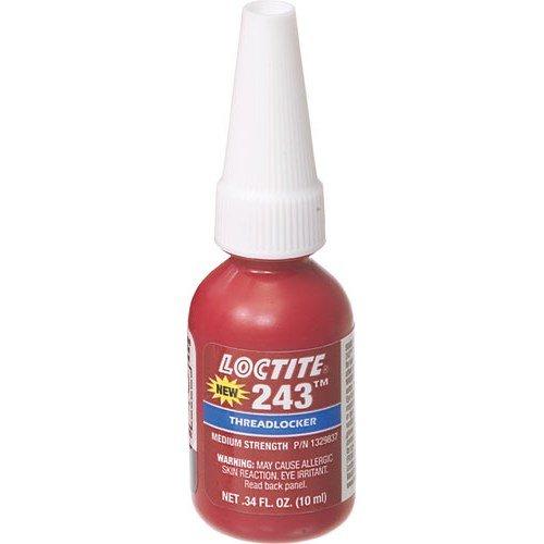 Loctite #243 Threadlocker Medium Strength for fastners 6-20mm, Oil resistant: 10ml (.34oz) 4333079223 LU3104