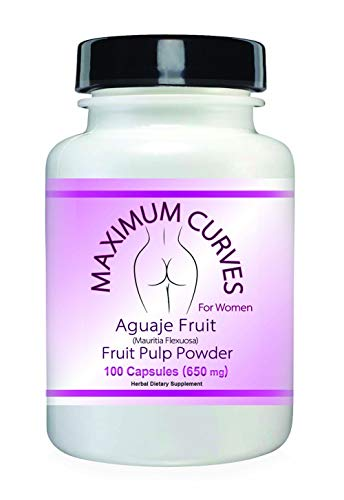 MAX Curve Enhancement Pills for Women, Increase Butt and Bust. Pure Aguaje Curvy Fruit Capsules for...