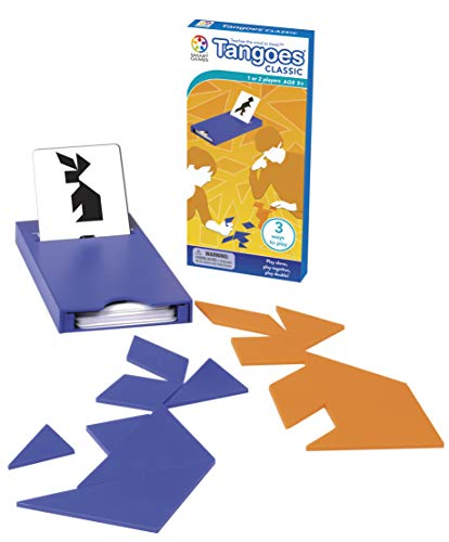 Tangoes Classic Tangram Travel Game with Portable Case featuring 100 Challenges for Ages 7 - Adult