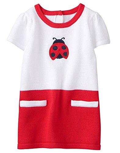 Gymboree Baby Girls Short Sleeve Knit Dress, Ladybug, 12-18 Mo