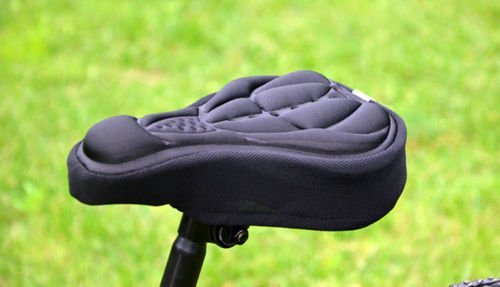 Nexify Bicycle Seat Cover (Black) - Soft Gel Saddle Cushion - Concave, Comfortable Bike Seat Foam - Cycling, Riding and Off-Road Comfort
