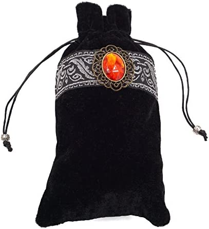 Board Game Cards Bag heresell Tarot Card Storage Bag Velvet Tarot Card Holder Bag Pouch with Drawstring