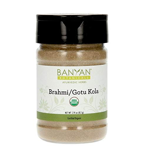 Banyan Botanicals Brahmi/Gotu Kola Powder, Spice Jar - USDA Organic - Centella asiatica - Ayurvedic Herb for the Brain & Nervous System