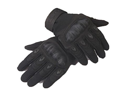 HOMEE Men All Refers to Gloves Non-Slip Wear Strong,Black,Large