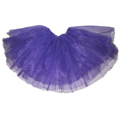 [Girls Ballet Tutu Purple] (Black Tutu Halloween Costume)