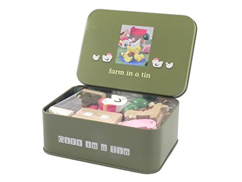 Farm Set In A Tin With Animals, Buildings & Play Mat
