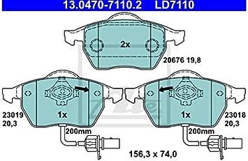 ATE 13.0470-2779.2 4x Bremsbel/äge vorne