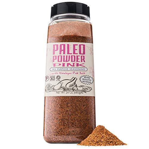 Paleo Powder All Purpose Seasoning with Himalayan Pink Salt. The Original Paleo Food Seasoning with Pure Himalayan Salt for all Paleo Diets! Certfied Ketogenic Food, Whole 30, Gluten Free - 24 oz. 1