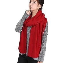 Wander Agio Women's Warm Long Shawl Winter Warm Large Scarf Pure Color