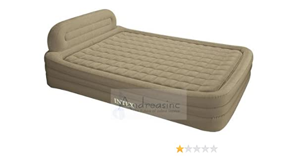 Amazon Com Intex Deluxe Queen Size Frame Bed Air Mattress Home