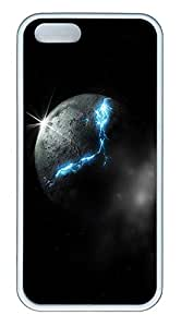 iPhone 5 5S Case Moon Spaces TPU Custom iPhone 5 5S Case Cover White