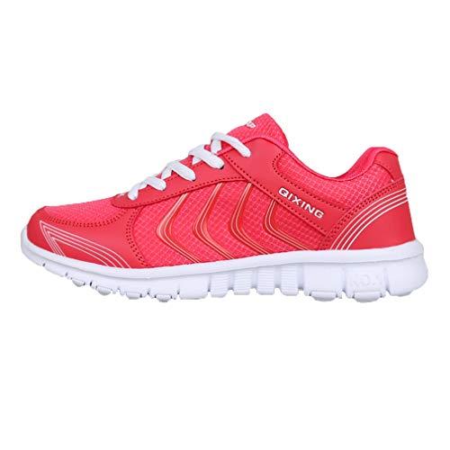Moda All'aperto Fitness Ginnastica Sneakers Traspirante Gym Unisex Scarpe Uomo Scarpe Rosso Coppia C Casual Maglia da Scarpe Sportive Donna Running da 7aBBwtx