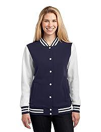 Sport-Tek Women's Fleece Letterman Jacket 3XL True Navy/ White