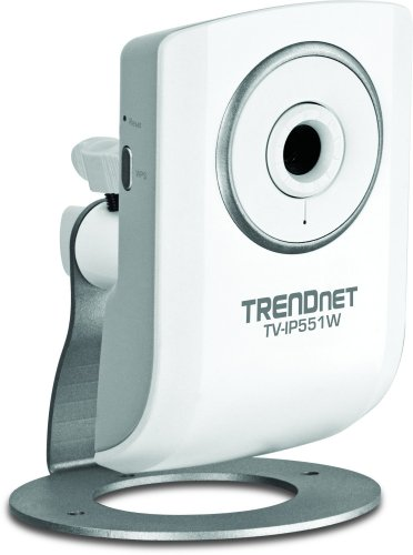 TRENDnet Wireless N Network Surveillance Camera with 1-Way Audio, TV-IP551W (White)
