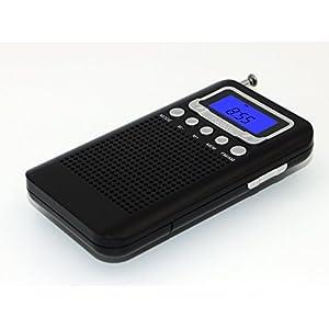 Uleader AM FM Pocket Digital Radio with Alarm Clock. (828 Black)