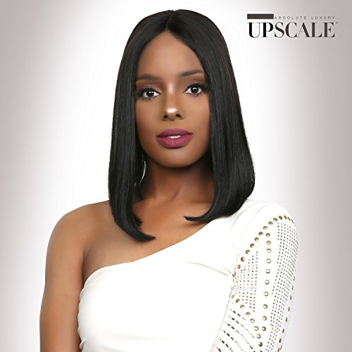 UpScale 100% Virgin Remi Human Hair Lace Front Wig Various Styles of Deep Part Lace Wig in Natural Color (STRAIGHT 12