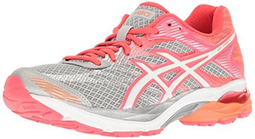 ASICS Womens Gel Flux 4 Running Shoe Mid GreyWhiteDiva Pink 9 M US