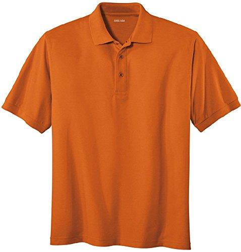 (Joe's USA Men's Classic Polo Shirts - Regular Medium (38-40) - Texas Orange)