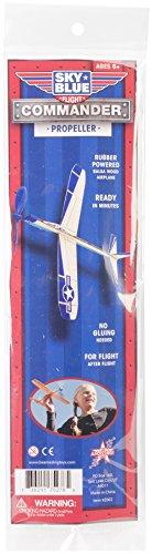 Sky Blue Flight Balsa Eagle Jet Rubber Band Powered Glider Model Kit, 12