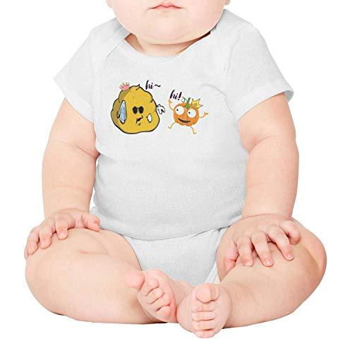 lsawdas Pumpkin Princess Poop Unisex Baby Cotton Short