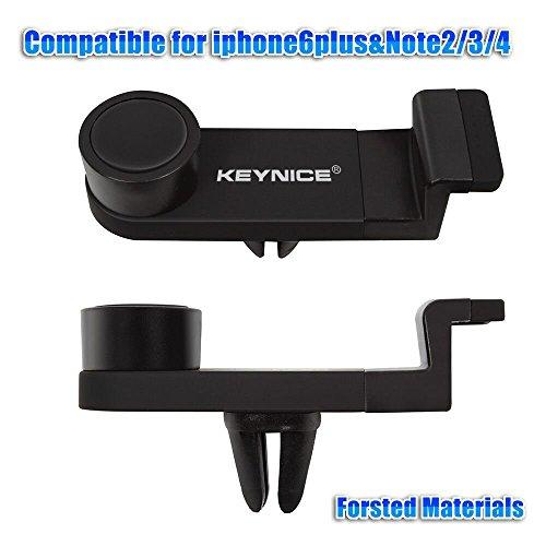 Keynice Cell Phone Car Mount Holder, Certified Air Vent car Mount Cradle for iphones 7 6/6Plus/5s/5/4s/4, Universal Car Mount For Smartphones -Black