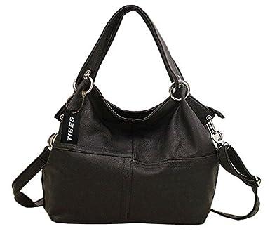 Tibes Women Splicing Handbags Simple Shoulder Bags Stylish Tote ...