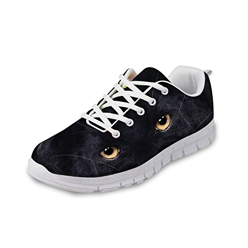 IDEA Men's Sneakers Lightweight Casual HUGS Fashion Black EU35 Design Shoes Sports Eyes Rnnning Black HnwddIq