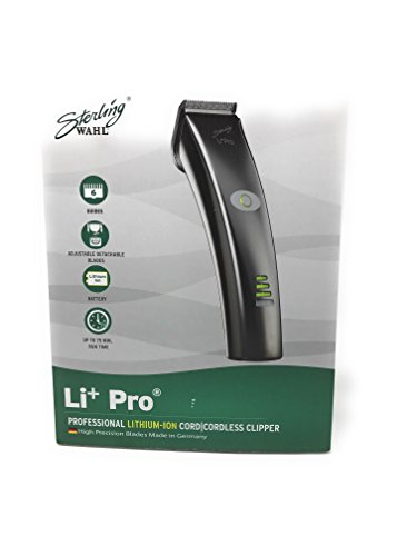 Wahl Professional Sterling Li Pro Clipper #8546  Great for Professional Stylists and Barbers  Both Cord and Cordless Options