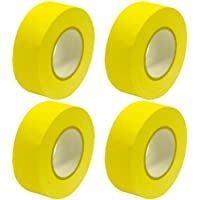 Seismic Audio - SeismicTape-Yellow602-4Pack - 4 Pack of 2 Inch Yellow Gaffers Tape - 60 yards per Roll