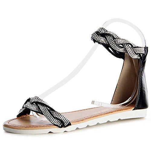 topschuhe24 - Sandalias de vestir para mujer, color blanco, talla 39