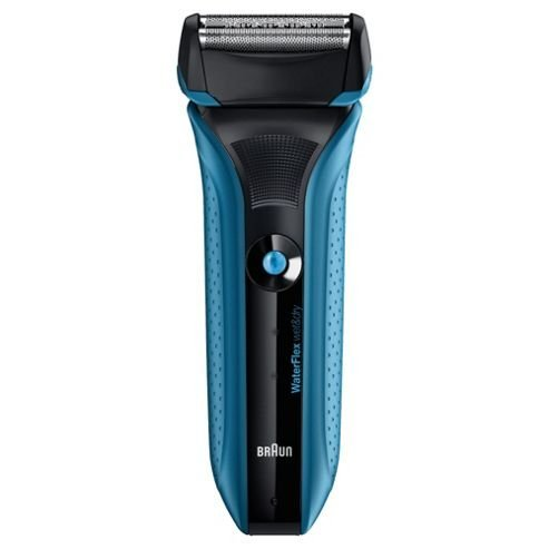 Braun WATERPROOF Men's Shaver with All NEW Contour-Adaptive Swivel Head and Opti-Foil Technology with Triple Action Cutting System & 2 Level LED Battery Display, Worldwide Voltage Adjustment -