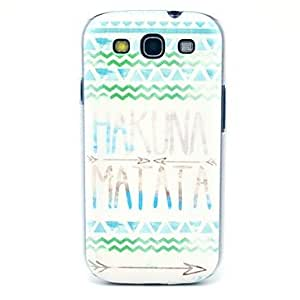 Tribal Carpet Hakuna Matata Pattern Hard Back Case Cover for Samsung Galaxy S3 I9300