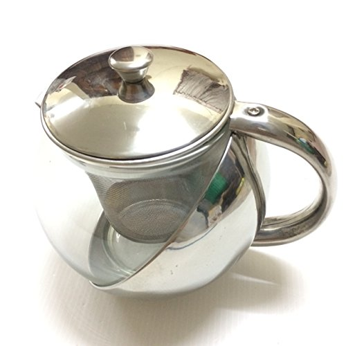 Half-Moon Teapot and Tea Strainer Set & Lid Teapot Kettle Kitchen Dining 25.36 oz. by Pisana1979 (Image #3)